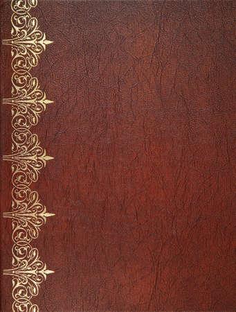 ampara: Cubierta de libro de cuero de Brown Foto de archivo
