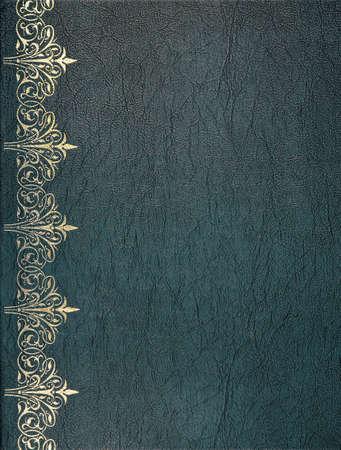 Lederen cover van het boek