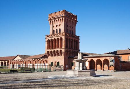 university fountain: Pollenzo, Bra, Cuneo, Piedmont (Italy)