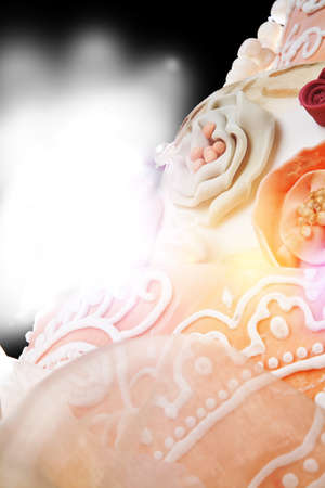 backlite: Abstract background (detail of wedding cake ) Stock Photo