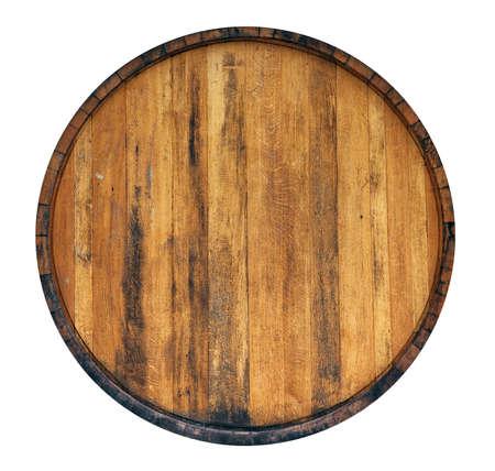 trompo de madera: Barril aislado en fondo blanco Foto de archivo