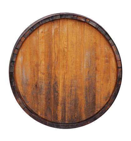 trompo de madera: Barril aislado en blanco