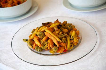 italian foods: Italian foods: vegetables with breadcrumbs