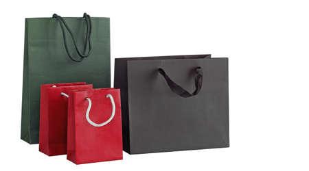 Meerdere boodschappentassen op wit