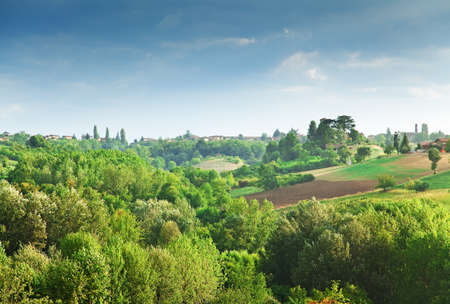 countryside landscape: Italian landscape (Piedmont, hills near Asti)