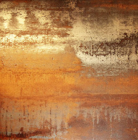 rusty metal: Colorful background (copper) Stock Photo