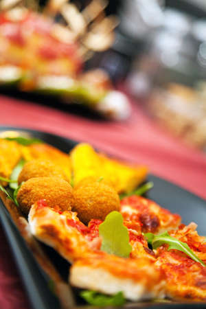 hotel bar: Food for party at hotel,  bar or pub