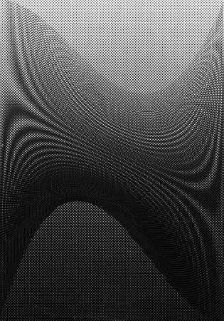 Halftone dots background (shoot of old printed paper) Stock Photo