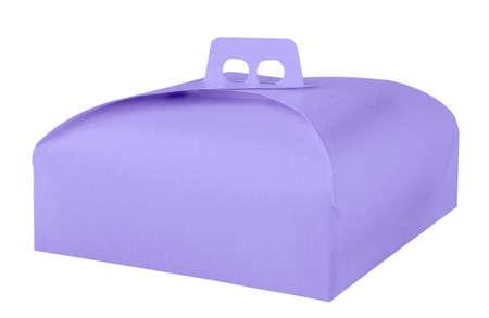Takeaway cake box isolated on white background