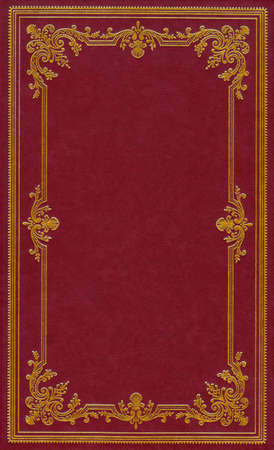 Dark red leather book cover