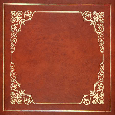brown leather: Brown leather book cover