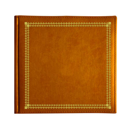 golde: Bronze cover book isolated on white Stock Photo