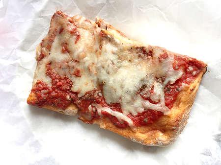 Detail of a slice of pizza Archivio Fotografico - 95363716