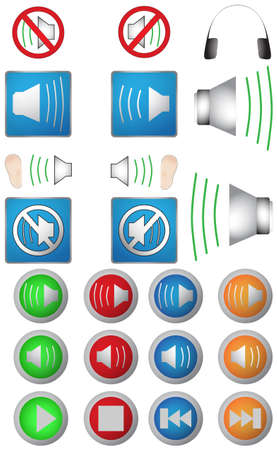 audio icons Stock Vector - 19019570