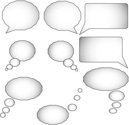 burbujas de pensamiento: Las burbujas del pensamiento