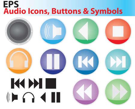 Audio Icons Stock Illustratie