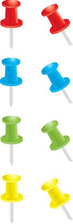 pushpins: Pushpins  Vectores