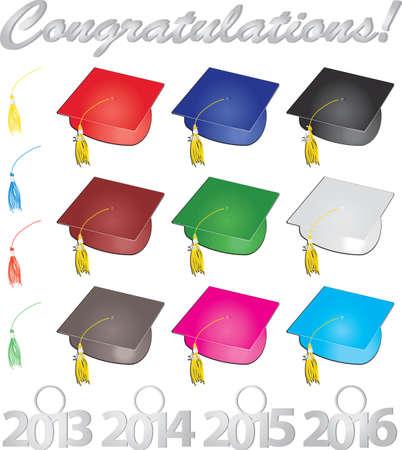 축하 졸업생 일러스트