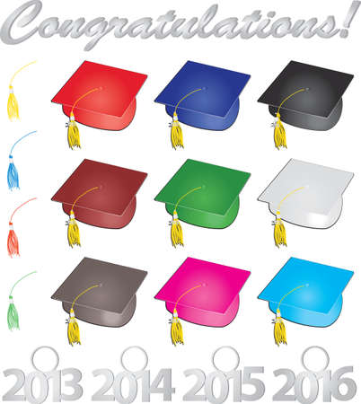 Congratulations Graduates Illustration