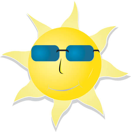 Smiling sun with sunglasses Stock Vector - 19476291