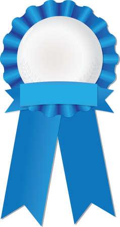 Blue ribbon to symbolize success, achievement or award Ilustrace