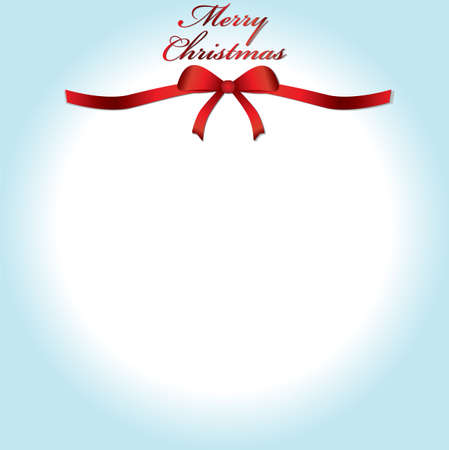 Merry Christmas lettering greeting with bow and background Stock Vector - 24189452