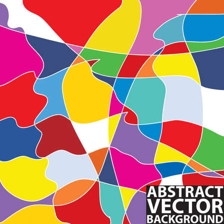 Colorful abstract vector background with shades of yellow, red, purple, blue and orange
