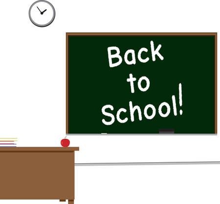 다시 칠판에 쓰여진 학교 교실 장면 스톡 콘텐츠 - 31580585
