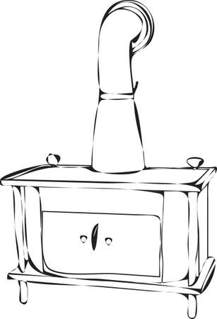stove pipe: wood burning stove outlines