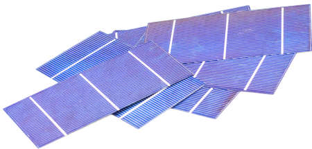 pile of solar cells Stock Photo