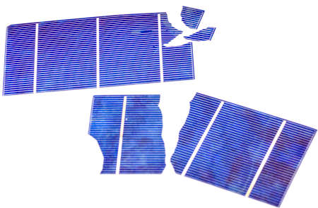 Broken photo-voltaic cells