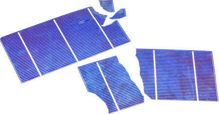 Broken photovoltaic cells Stock Photo