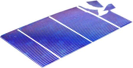 Single broken photovoltaic cell Stock Photo