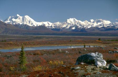 denali: Denali Range from Denali Highway Alaska