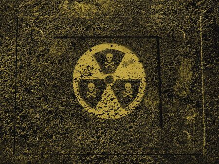 flammable materials: Warning sign : nuclear danger