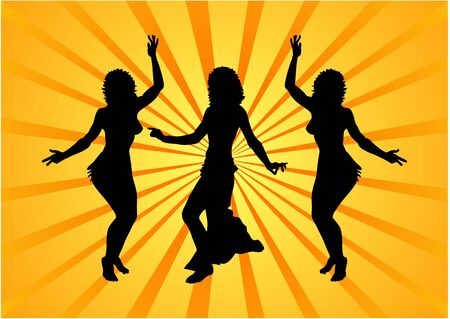 Party people on abstract background Stock Photo - 1960948