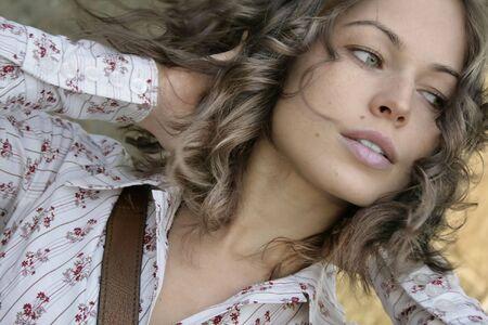 Fashion art photo. Portrait of beautiful woman photo
