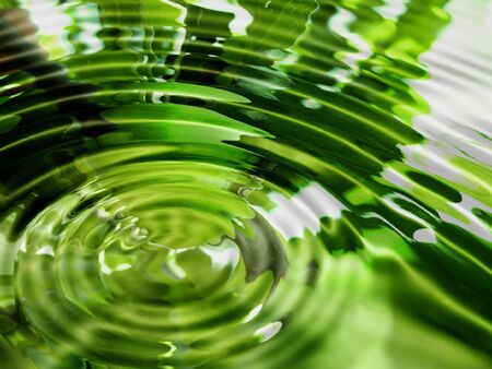 ripple effect: Bright abstract green water background