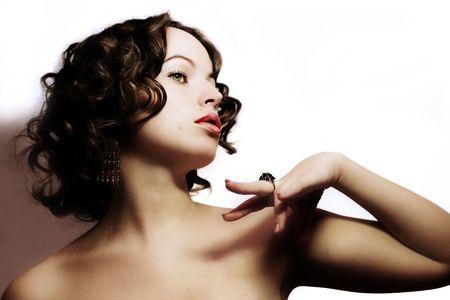 Beautiful woman. Fashion art photo Stock Photo - 1989147
