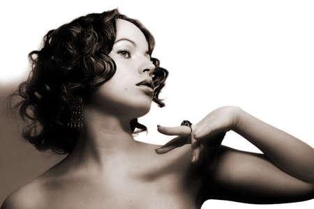 Beautiful woman. Fashion art photo Stock Photo - 2190871