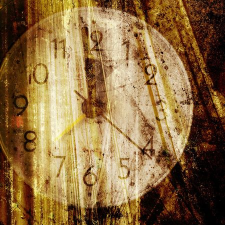 Old clock face. Closeup photo