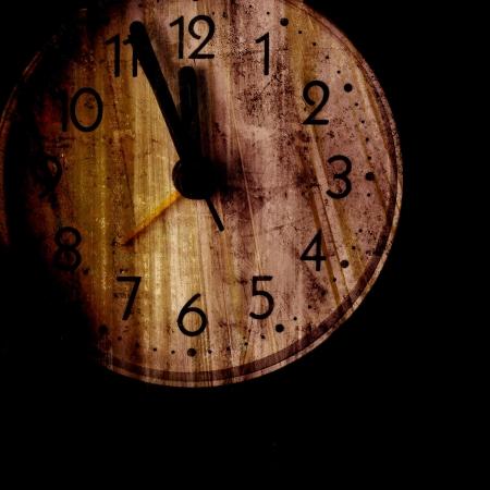 Old clock face. Closeup