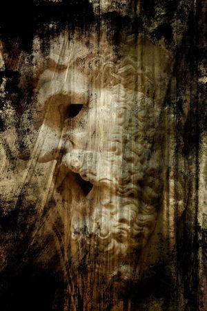 zeus: mask of the Zeus. Ancient greek art