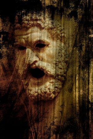 antica grecia: la maschera di Zeus. Greco antico arte