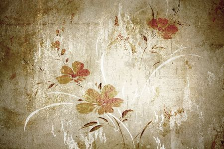 wallpaper image: Floral vintage wallpaper and background