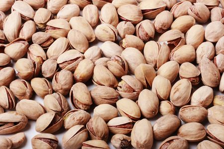 Close up of roasted pistachio nuts photo