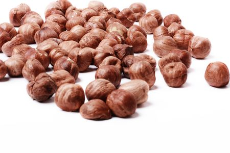 filbert: Close up of roasted filbert nuts