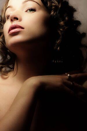 Beautiful woman. Fashion art photo. Close-up makeup Stock Photo - 2360489