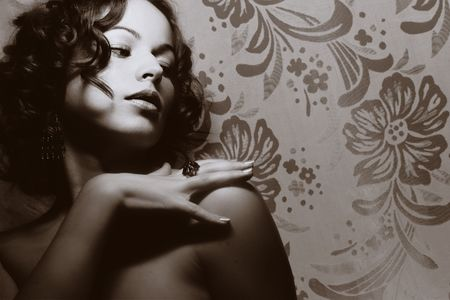 Beautiful woman. Fashion art photo Stock Photo - 2371390