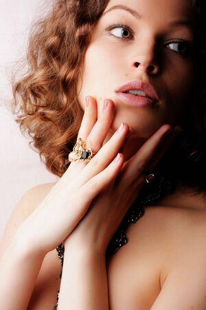 Beautiful woman. Fashion art photo. Close-up makeup Stock Photo - 2414716